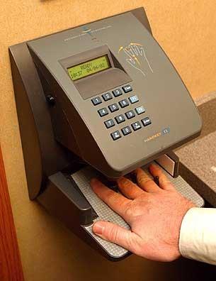 Biometric Voting Handscanner